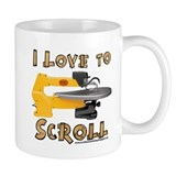 I Love to scroll Small Mugs