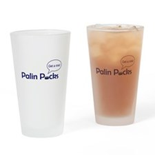 Palin Pucks Drinking Glass