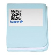 QuickDraw WP QR Logo baby blanket