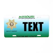 Missouri Deputy Sheriff Custom License Plate