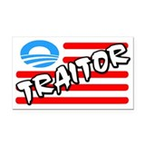 """Traitor: Barack Obama"" Car Magnet"