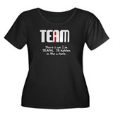 There is an I in team Women's Plus Size Scoop Neck