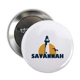 "Savannah Beach GA - Lighthouse Design. 2.25"" Butto"