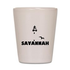Savannah Beach GA - Lighthouse Design. Shot Glass