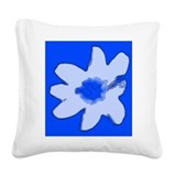 Blue Floral Abstract 47 Designer Square Canvas Pil