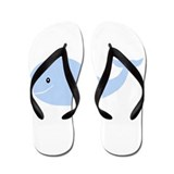 Happy Blue Whale Flip Flops