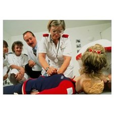 Cardiopulmonary resuscitation first aid training