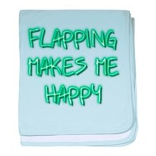 Flapping Makes Me Happy baby blanket