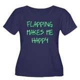 Flapping Makes Me Happy Women's Plus Size Scoop Ne
