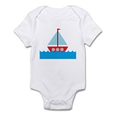 Red Sailboat in Water Infant Bodysuit