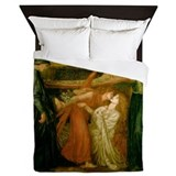 Dantes Dream by Rossetti Queen Duvet