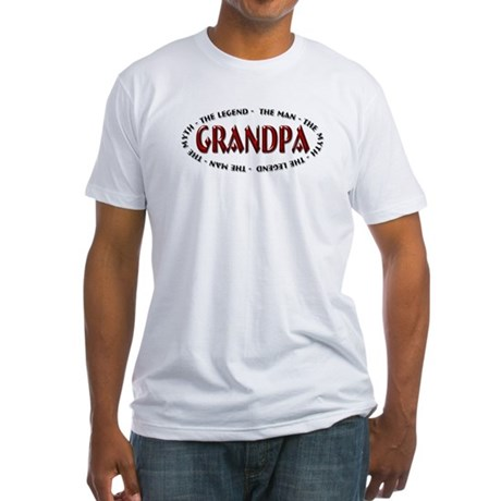 Grandpa - The Legend Fitted T-Shirt