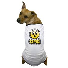 omg bbm smiley Dog T-Shirt