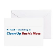 Clean Up Bush's Mess Greeting Cards (Pk of 10)