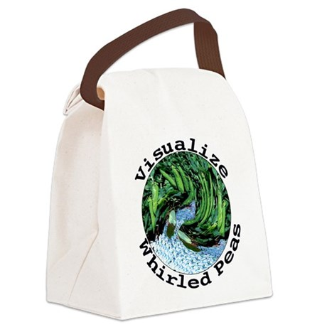 Visualize Whirled Peas Canvas Lunch Bag