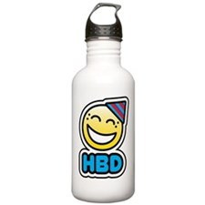 hbd bbm smiley Sports Water Bottle