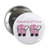 Grandma of Twins (Girls) Button