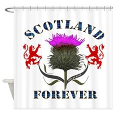 Scotland Forever Blue - Thistle Shower Curtain