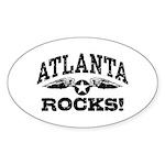 Atlanta Rocks Sticker (Oval)