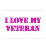 Love my veteran (pink) Postcards (Package of 8)