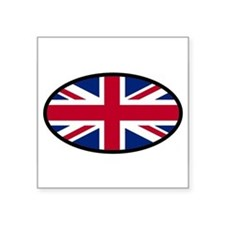 Union Jack Oval Sticker
