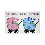 Grandma of Twins (Girl & Boy) Rectangle Magnet