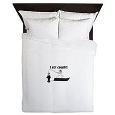 I Got Caught Groom Fishing Queen Duvet
