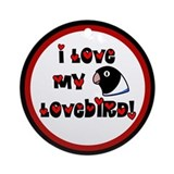 Anime Blue Lovebird Ornament (Round)