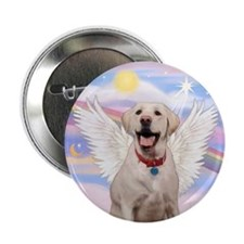 "Yellow Labrador Angel 2.25"" Button (10 pack)"
