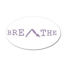 Yoga Breathe 6 20x12 Oval Wall Decal