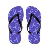 Esophageal Cancer Periwinkle Ribbon Flip Flops