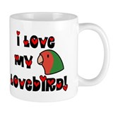 Anime Peachfaced Lovebird Small Mugs