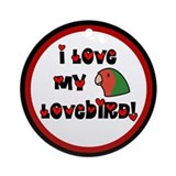 Anime Peachfaced Lovebird Ornament (Round)