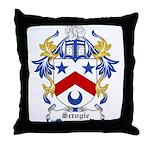 Scrogie Coat of Arms Throw Pillow