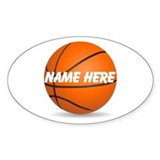 Customizable Basketball Ball Stickers