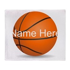 Customizable Basketball Ball Throw Blanket