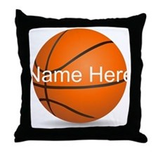 Customizable Basketball Ball Throw Pillow