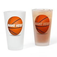 Customizable Basketball Ball Drinking Glass