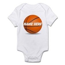 Customizable Basketball Ball Infant Bodysuit