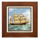 Schooner Framed Tile