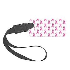 Breast Cancer Awareness Pink Ribbon Luggage Tag