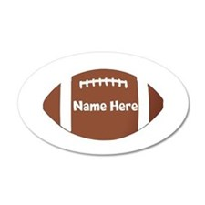 Personalized Football Wall Decal Sticker
