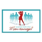 """Man-Tourage"" Rectangle Decal"
