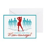 """Man-Tourage"" Greeting Cards (Pk of 10)"