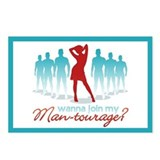 """Man-Tourage"" Postcards (Package of 8)"