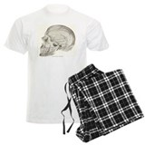 side view skull design pajamas