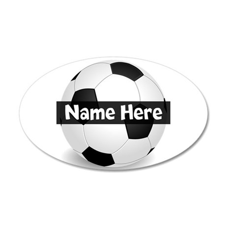 Personalized Soccer Ball 20x12 Oval Wall Decal