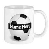 Personalized Soccer Ball Small Mugs