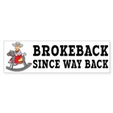 Brokeback Since Way Back Bumper Car Sticker