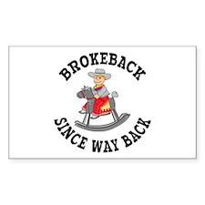 Brokeback Since Way Back Rectangle Decal